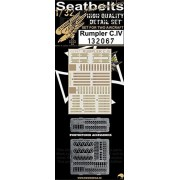 HGW 1:32 Seatbelts Junkers Ju-88 A-1 for Revell - PE Printed Detail Set #132065