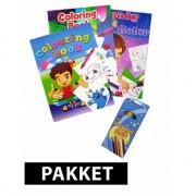 Kinder kleurboeken met potloden