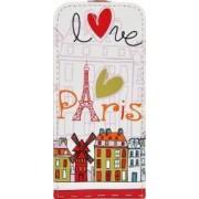 Husa Akashi Flip Apple iPhone SE 5S Paris Design