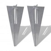 vidaXL Set 2 hrotů na ukotvení sloupků nebo plotových vzpěr do země