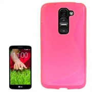 LG Optimus G2 mini - hoes, cover, case - TPU - transparant - roze
