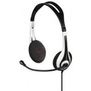 Casti stereo cu microfon Hama HS-250, (Alb/Negru)