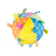 Mary Meyer Taggies Plush Toss the Taggies Chime Ball, Colors