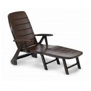 Ligstoel Charleston (inklapbaar) - kunststof - bruin, Best Freizeitmöbel