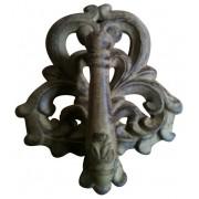 """Cd-1319, cast iron door knocker, antique rust, 6""""x7"""""""