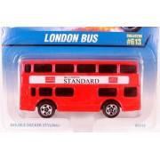 LONDON BUS 1997 Hot Wheels #613 Red Double Decker London Bus 1:64 Scale Collectible Die Cast Car