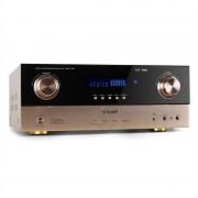 Auna AMP-7100 7.1-съраунд ресийвър / усилвател 2000W бронзов (AV1-AMP-7.1-BR)