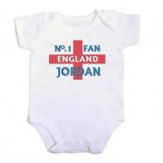 England Fan Personalised Baby Vest