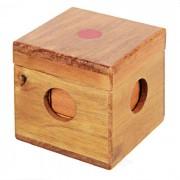 Montaje de madera de goma Cubo Cuboide educativos del sistema del juguete - Rojo + Marron