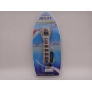 Arcas lanterna metalica 28 leduri cu baterii 3 x AAA LR03 incluse