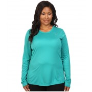 Nike Miler Long-Sleeve Running Top (Size 1X-3X) Teal ChargeReflective Silver