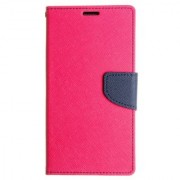FANCY DIARY FLIP COVER SILICONE CASE For Lenovo S850 PINK