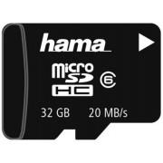 Card de memorie Hama microSDHC, 32GB, Clasa 6, pana la 20 MB/s