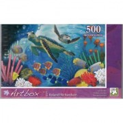 ArtBox 500 Pc Puzzle Art by Roland Richardson Sea Turtles