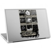 """MusicSkins - Skin protettiva con grafica """"Organic Flower"""" per MacBook Pro e PC portatili da 17'', motivo: Underoath"""