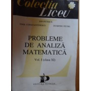 Probleme De Analiza Matematica Vol.i Clasa A Xi-a - Ion Petrica Emil Constantinescu Dumitru Petre