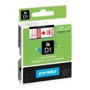 Dymo D1 Label Cassette 12mmx7m (SD45015) - Red on White