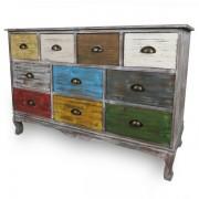 Comoda Vintage 1250x345x805, 10 sertare, color