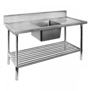 Single Sink Bench 1200 W x 700 D with Centre Bowl