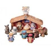 Fisher-Price - World of Little People Deluxe Christmas Story, Belén de Navidad (Mattel)