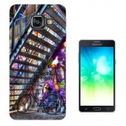 Samsung Galaxy A3 (2017) Sm-A320f Fashion Trend Protecteur Coque Gel Rubber Silicone Protection Case Coque 003079 - Beautiful Colourful Graffiti Art Bicycle Stairs