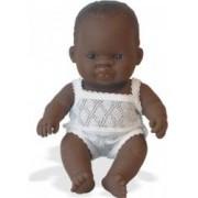 Papusa Baby african fata Miniland 21cm
