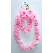 Kit accesorii Hawaii flori roz, Radar 62022, Set 4 piese