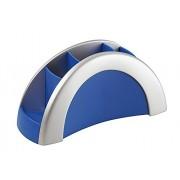 Durable Vegas - Lapicero con varios compartimentos, color azul/plata