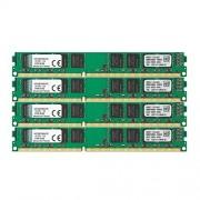 Kingston KVR1333D3N9K4/32G Memoria RAM da 32 GB, 1333 MHz, DDR3, Non-ECC CL9 DIMM Kit (4x8 GB), 240-pin, 1.5 V