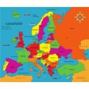 Puzzle geografic - Harta Europei 58 piese