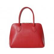 FLORENCE BAGS Malá červená kožená kabelka do ruky i přes rameno Saffiano
