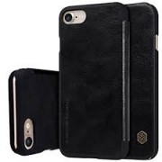 Bluedio Nillkin Qin Series Leather Flip Case Cover for Apple Iphone 7plus - Black