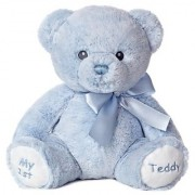 Aurora World Baby My 1st Teddy Bear Plush Blue 12 Tall