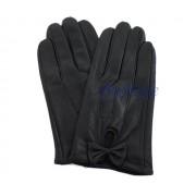Czarne rękawiczki z kokardą