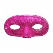 Pink Glitter Domino Masquerade Mask