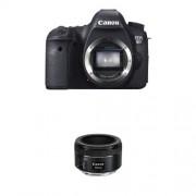 Canon EOS 6D Body Fotocamera Reflex Digitale 20.2 Megapixel, Nero + Canon EF 50mm f/1.8 STM, Obiettivo con Lunghezza focale fissa, Nero