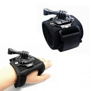 J 360 Degree Rotating Band Glove Style Wrist Camera Strap Hand Mount with Thumb Screw for SJCAM SJ5000 PLUS