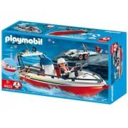 Barca cu remorca a pompierilor, PLAYMOBIL Fire Rescue