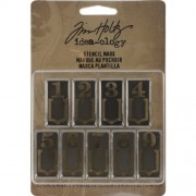 Stencil Mark Metal Clips by Tim Holtz Idea-ology, 9 Marker Clips per Pack, 1.25 Inches Tall, Silver Finish, TH93067 by Tim Holtz, Advantus Corp.