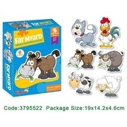 Set 6 Puzzle Bebe Animale De La Ferma