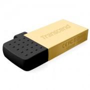 Флаш памет Transcend 16GB JetFlash 380, Gold Plating - TS16GJF380G