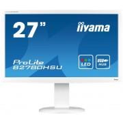 "Monitor TN iiyama 27"" ProLite B2780HSU-W1, Full HD (1920 x 1080), VGA, HDMI, DVI-D, 2ms, Pivot, Boxe (Alb)"