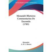 Menandri Rhetorus Commentarius De Encomiis (1785) by Menander