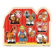 Melissa & Doug 3391 Jumbo Knob Wooden Farm Puzzle