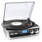 Auna TT-196E - Tocadiscos USB MP3 AM/FM