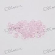 Austria Ornamental DIY Crystal Beads Pink (50-Pack)