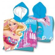 Barbie poncsós törölköző - delfines