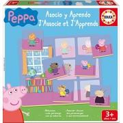 Peppa Pig - Asocio Y Aprendo, juego educativo (Educa Borrás 16226)