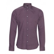Heren slim fit button-down overhemd
