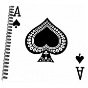 3dRose db_76552_3 Ace of Spades playing card-Black spade suit-Gifts for cards game players of poker bridge games-Mini Notepad, 4 by 4""